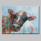 Hand Painted Bull Oil Painting On Canvas Modern Abstract Wall Art Picture For Home Decoration Read