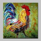 100% Hand-Painted Big Cock Animal Oil Paintings On Canvas Modern Abstract Wall Art Picture For Hom