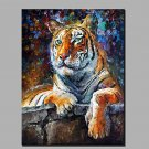 Modern Abstract Of Pure Hand-Painted Oil Painting Ready   To Hang Decoration The Tiger