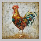 Hand Painted Cock Animal Oil Painting On Canvas Modern Art Abstract Wall Pictures For Home Decorat