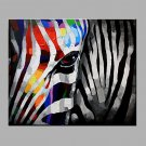 Oil Painting Modern Abstract  Pure Hand Draw Ready To Hang Decorative The Zebra Oil Painting