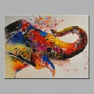 Oil Painting Modern Abstract  Pure Hand Draw Ready To Hang Decorative The Elephant Nose Oil Painti