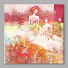 IARTS Abstract Three Girls in Dress in The Wild on Canvas Print Art for Modern Wall Decoration
