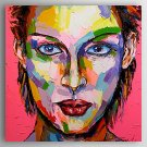 Hand-Painted  Abstract People by Knife Oil Painting With Stretcher For Home Decoration Ready to Ha
