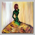 Large Size Hand Painted Modern Abstract Fashion Girl Oil Painting On Canvas Wall Art Picture For H