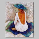 Big Size Hand-Painted Bare Back Girl Oil Paintings On Canvas Modern Abstract Wall Art Picture For