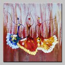 Large Size Hand Painted Dance Girl Oil Painting On Canvas Wall Art Pictures For Wall Decor No Fram