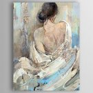 Oil Painting Modern People  Back of a Nude Woman Hand Painted Canvas with Stretched Framed