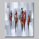 Hand Painted Modern Abstract People Oil Painting On Canvas Wall Art Picture For Wall Decoration Re