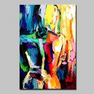 Hand Painted Abstract Naked Woman Oil Painting On Canvas Wall Art For Home Decoration With Stretch
