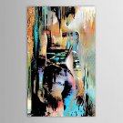 Hand-Painted People Vertical,Modern One Panel Oil Painting For Home Decoration