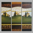 IARTS Abstract Oil Painting Lovely Countryside Landscape Set of 3 with Stretched Frame Painting Fo