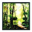 Landscape Woods Framed Oil Painting