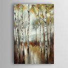 Hand Painted Oil Painting  Landscape Abstract The Water of Birch Trees with Stretched Frame 7 Wall