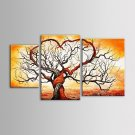 IARTS Oil Painting Modern Abstract Love Tree Canvas Art Set of 3 Hand Painted Canvas with Stretche
