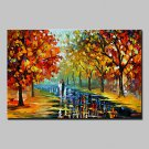 Hand Painted Knife Landscape Oil Painting On Canvas Modern Abstract Wall Art Pictures For Home Dec