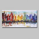 Hand-Painted Knife City Oil Paintings On Canvas Modern Abstract Wall Art Pictures For Home Decorat