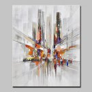 Hand Painted Modern Abstract City Streets Oil Painting On Canvas Wall Art Picture For Home Decorat