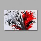 Stretched (Ready to hang) Hand-Painted Oil Painting 90cmx60cm Canvas Wall Art Modern Abstract Blac