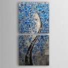 Hand Painted Tree Flowers Oil Painting On Canvas Modern Abstract Wall Art Picture For Home Decorat