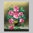 Hand Painted Flower Oil Painting On Canvas Modern Abstract Wall Art Picture With Stretched Frame R