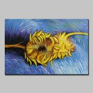 Hand Painted Sunflower Oil Painting On Canvas Modern Abstract Wall Art Pictures For Home Decoratio