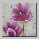 Large Hand Painted Pink Flowers Oil Painting On Canvas Modern Wall Art Picture For Living Room Hom