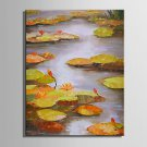 E-HOME Oil painting Modern Lotus Pond Pure Hand Draw Frameless Decorative Painting