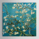 Canvas Print Paintings Almond Branches in Bloom San Remyc.1890 by Vincent Van Gogh Hand-Painted Re