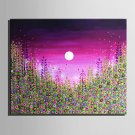 Mini Size E-HOME Oil painting Modern Under The Moon Flowers Pure Hand Draw Frameless Decorative Pa