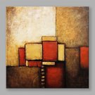 IARTS Modern Abstract Painting Colorful Square Wall Art For Home Decor Stretchered Ready To Hang
