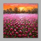 IARTS Hand Painted Oil Painting Vintage Rose Garden Abstract Art Acrylic Canvas Wall Art For Home