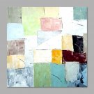 IARTS Hand Painted Oil Painting Modern Square Pale Colored Abstract Wall Art Acrylic Canvas Wall A