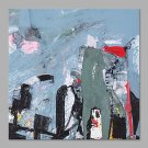 IARTS Hand Painted Abstract Oil Painting The Modern Colorful Paint in Light Blue with Stretched Fr