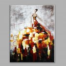 Abstract Oil Painting A Modern Woman In A Creative Dress Framed Handmade Oil Painting For Home Dec