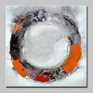 Hand Painted Round Abstract Oil Painting On Canvas Wall Art Pictures For Home Decoration With Stre