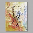 IARTS Hand Painted Oil Painting Modern Elephant Portrait Abstract Art Acrylic Canvas Wall Art For