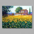 IARTS  Hand Painted Oil Painting Vintage Cottage Garden Abstract Art Acrylic Canvas Wall Art For H