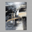 IARTS Hand Painted Oil Painting Modern Begie & Grey Line Painting Style C Abstract Art Acrylic Can