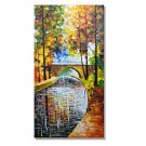 HY141150 Hand-Painted Landscape Modern Tree Summer Daydreams Oil Painting On Canvas One Panel Re