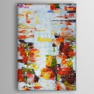 Hand-Painted  Abstract Colour Lump  Canvas Oil Painting With Stretcher For Home Decoration Ready t
