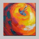 Modern Abstract Hand Painted Red Apple Oil Painting On Canvas Wall Art With Stretched Frame Ready
