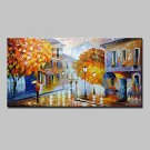 Hand Painted Abstract Landscape Oil Painting On Canvas Modern Wall Art With Stretched Frame Ready