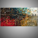 IARTS Single Contemporary Abstract Paintings Handmade Colorful  Wall Art Series Modern Canvas Fabr