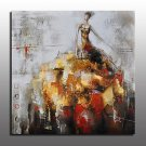 Beautiful Modern Acrylic Oil Painting On Canvas Modern Woman Oil Painting For Room Decor Abstract