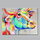 Handmade Home Decor Paintings Abstract Animal Canvas Art Cow Oil Painting On Canvas For Wall Decor