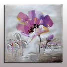 Hand Painted Flower Oil Painting On Canvas Wall Art Picture For Home Decor With Stretched Frame Re