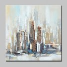 100% Hand-Painted Modern Abstract City Landscape Oil Paintings On Canvas Wall Art For Home Decorat