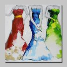 Large Hand Painted Three Of My Fair Lady Oil Paintings On Canvas Modern Abstract Wall Art Picture