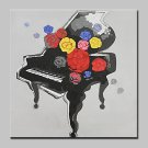 Large Hand Painted Modern Abstract Piano Oil Painting On Canvas Wall Art Pictures For Living Room